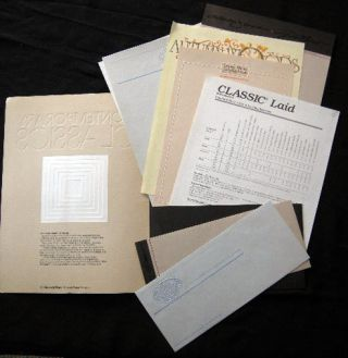 Contemporary Classics on Classic Laid from Neenah Paper