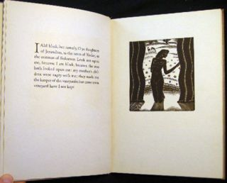 The Song of Songs with Woodcuts By James Reid