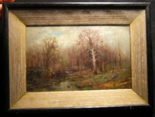Original Landscape Oil on Canvas Board Signed By Frederick William Billing (1835 - 1914). Art -...