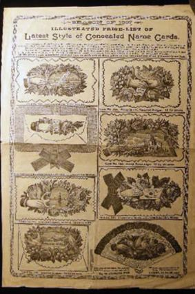 Season of 1897 Illustrated Price-List of Latest Style of Concealed Name Cards Hamden Card Works...
