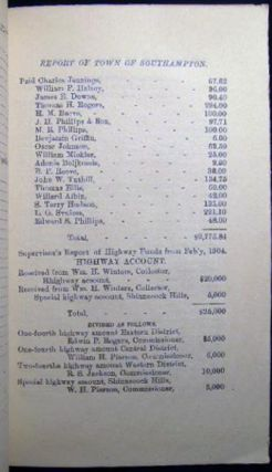 Financial Report of the Town of Southampton for the Year Ending April 1st, 1904