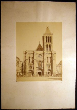 Circa 1870 Large Format Photograph of the Basilica St.-Denis Paris France By Achille Quinet