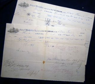 1862 Port of Philadelphia 2-Pages of Manuscript & Printed Bills of Lading Entry of Merchandise...