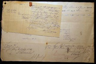 1862 Port of Philadelphia Manuscript & Printed Bill of Lading Entry of Merchandise Customs Duties...