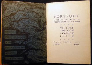 Portfolio Literary Art Magazine William Howard Taft High School Victory Through Service Issue Fall Term 1942 Volume I Number I