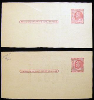 Two Circa 1950 East Hampton, L.I. New York Radio - S 38 Zenith TV T 54 WQSWL 2 Element Beam Postcard Reply Cards with Prepaid Postage