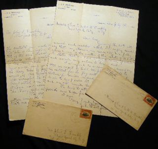 1901 Two Letters Signed By J.E. Westfall, Attorney Remington, Indiana Regarding an Estate...