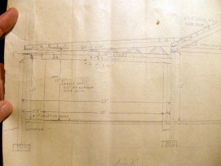Collection of Blueprints & Pencil Drawings for the Southold Savings Bank, Cutchogue Elementary School and Tyler's Garage Mattituck in the Town of Southold Long Island New York
