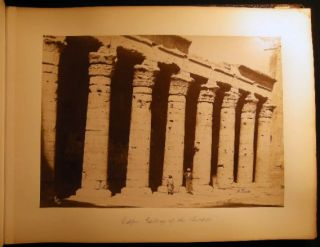 Circa 1870 Twenty-Seven Large Format Photographs of Egypt By Antoine (Antonio) Beato. Photography...