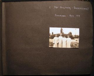 1939 -1940 Photograph Album Education and Ordination of Catholic Priests Including St. Rose...