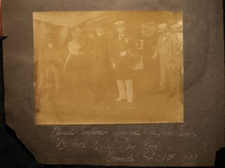 1899 Large Format Photographs of Bermuda: Admiral Sampson & Admiral Sir John Fisher on USS NY & Happy Valley, Ireland Island, Mt. St. Agnes
