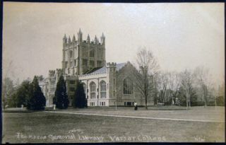 Circa 1909 Real Photo Postcard Vassar College Thompson Memorial Library Poughkeepsie, N.Y....