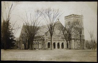 Circa 1909 Real Photo Postcard Vassar College Chapel Poughkeepsie, N.Y. Americana - Vassar College