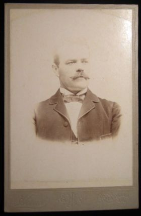 Circa 1895 Cabinet Card Photograph of a Mustachioed Gentleman By J.H. Hand, Photographer...