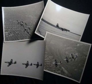 1948 - 1949 Four Photographs of McDonnell FH Phantom Jets. Americana - 20th Century - Photography...