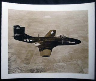1948 Photograph of McDonnell Banshee Jet Fighter Aircraft U.S. Navy. Americana - 20th Century -...