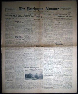 1930 Friday, November 7 The Patchogue Advance Long Island's Leading Newspaper Friday Edition...