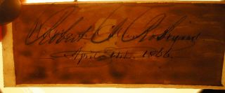 1866 Signature and Date of April 14th By William Cullen Bryant (with) an Engraved Portrait of the Author By W. Wellstood
