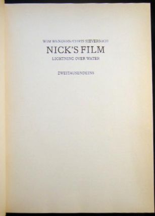 Nick's Film Lightning Over Water Wim Wenders/Chris Sievernich (with) Letter from Movielab, Inc. To Cinematographer Fred C. Schuler