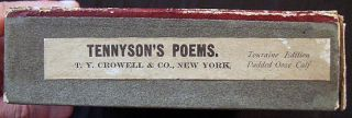 The Poetical Works of Alfred, Lord Tennyson Poet Laureate with a Biographical and Critical Introduction By Eugene Parsons, the Publisher's Boxed & Labeled Touraine Edition in Full Padded Ooze Calf