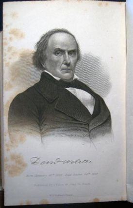 Bound Volume of Eulogies, Sermons, Orations, Discourses and Biographical Commemorations Regarding the Life and Death of Daniel Webster