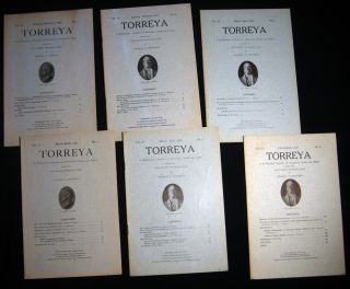 1921 - 25 Torreya A Bi-Monthly Journal of Botanical Notes and News; Several Issues with Contents...
