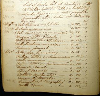 Circa 1824 - 1830 Manuscript Georgetown Ledger, Travel-log, Draft Legal Agreements for Tavern Properties, Banking & Investment, Personal & Family Correspondence