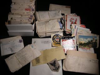 1943 - 1953 Collection of Letters, Greeting Cards, Including Ephemeral Materials, Written to a...