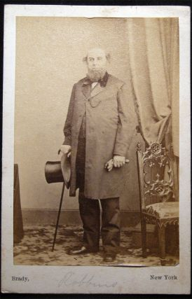 Circa 1860 Carte-de-Visite Photographs of Elliott Robbins By Brady, NY and Mrs. Sadie Robbins By H. Manger's Photograph Gallery Philadelphia.