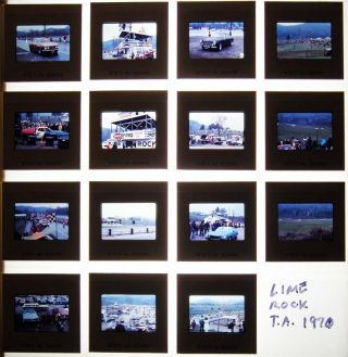 Circa 1971 Group of 35mm Color Slides of Race Activities & Cars at Lime Rock Park, Lakeville...