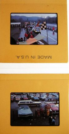 Circa 1971 Group of 35mm Color Slides of Race Activities & Cars at Lime Rock Park, Lakeville Connecticut