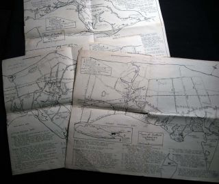 Three Maps of the Town of Southold Long Island, N.Y. 1640 -1965. Americana - 20th Century -...