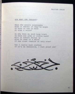 Leaps and Bounds a Collection of Creative Writing By Senior Citizens Ninth Annual Issue 1984 -1985 (with) An Autographed Note Signed By the Editor Presenting the Volume to Poet David Ignatow. in Thanks for His Writing