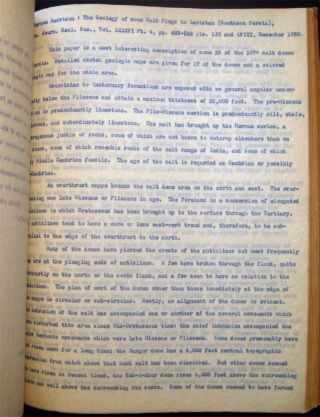 Circa 1925 - 1931 Manuscripts, Typed Drafts, Book Reviews, Abstracts & Offprints of Petroleum Field Geologist Donald Clinton Barton 1889 - 1939 (with) January - April 1927 Daily Drilling& Production Reports from Rycade Corporation Oilfield Wells.