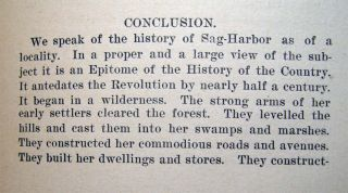 Early Sag-Harbor, An Address Delivered Before the Sag-Harbor Historical Society, February 4th, 1896, By H.P. Hedges