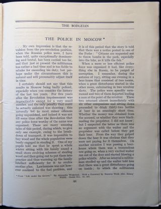The Bodleian a Journal of Books at the Bodley Head Vol. XX. No. 9 December, 1928