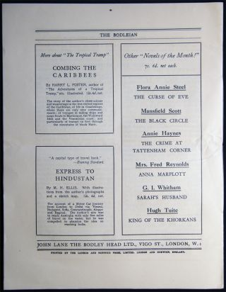 The Bodleian a Journal of Books at the Bodley Head Vol. XXI. No. 2 May, 1929