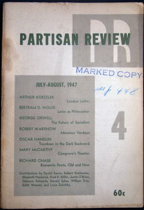 Partisan Review Volume XIV, No. 4 July-August, 1947. Americana - 20th Century - Periodical -...