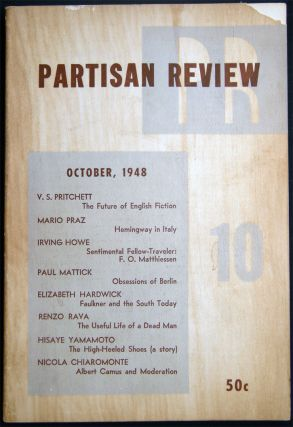 Partisan Review October, 1948 Volume XV, No. 10. Americana - 20th Century - Periodical -...