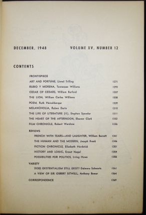 Partisan Review December, 1948 Volume XV, No. 12