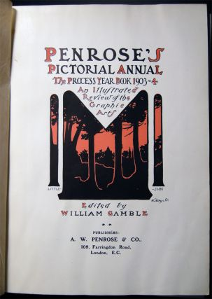 Penroses's Pictorial Annual the Process Year Book 1903-4 An Illustrated Review of the Graphic...