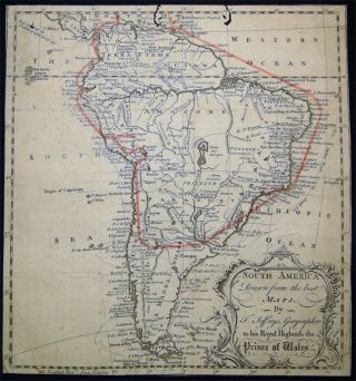 South America Drawn from The best Maps, By T. Jefferys, Geographer to His Royal Highness the...