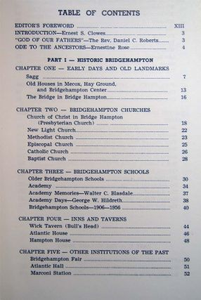 Bridgehampton's Three Hundred Years Historic Material from Many Sources Selected By a Special Committee on the Occasion of Bridgehampton's Tercentenary Celebration in 1956