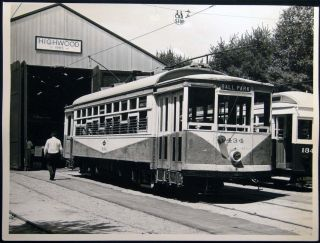 Photograph of Ex-Dallas Texas Car at the Seashore Trolley Museum in Kennebunkport, Maine 1977....
