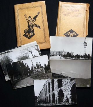 Circa 1915 Group of 40 Real Photo Postcards By W. Sender Artiste Peintre Atelier Photographique,...