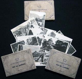 Circa 1930 Group of Souvenir Photographs By German-born Naturalized Brazilian photographer...