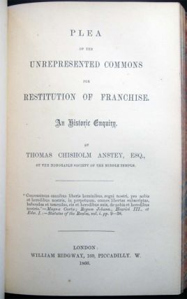 1857 - 1866 Collection Of Sixteen Political Rights Pamphlets and Speeches Regarding Education, Suffrage, Franchise, Parliamentary Reform, Representation, Irish Tenant-Rights, the Death Penalty, Personal Property & Entail and the Coal Question