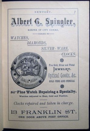 Newport; Season of 1884. A Handy Reference Book Containing a Correct List of Summer Residents, Time Tables of Steamboats and Trains, the Drives in and About Newport, Table of Distances, Tide Table, and Much other Information of Interest to Every Visitor.