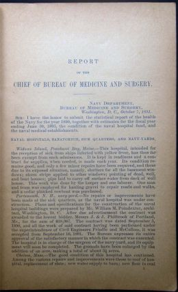 Report of the Chief of the Bureau of Medicine and Surgery to the Secretary of the Navy