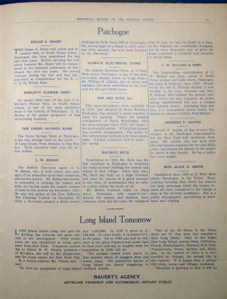 Historical Number of the Suffolk Citizen Sayville, Long Island Supplement to the Suffolk Citizen Thursday, January 29, 1925